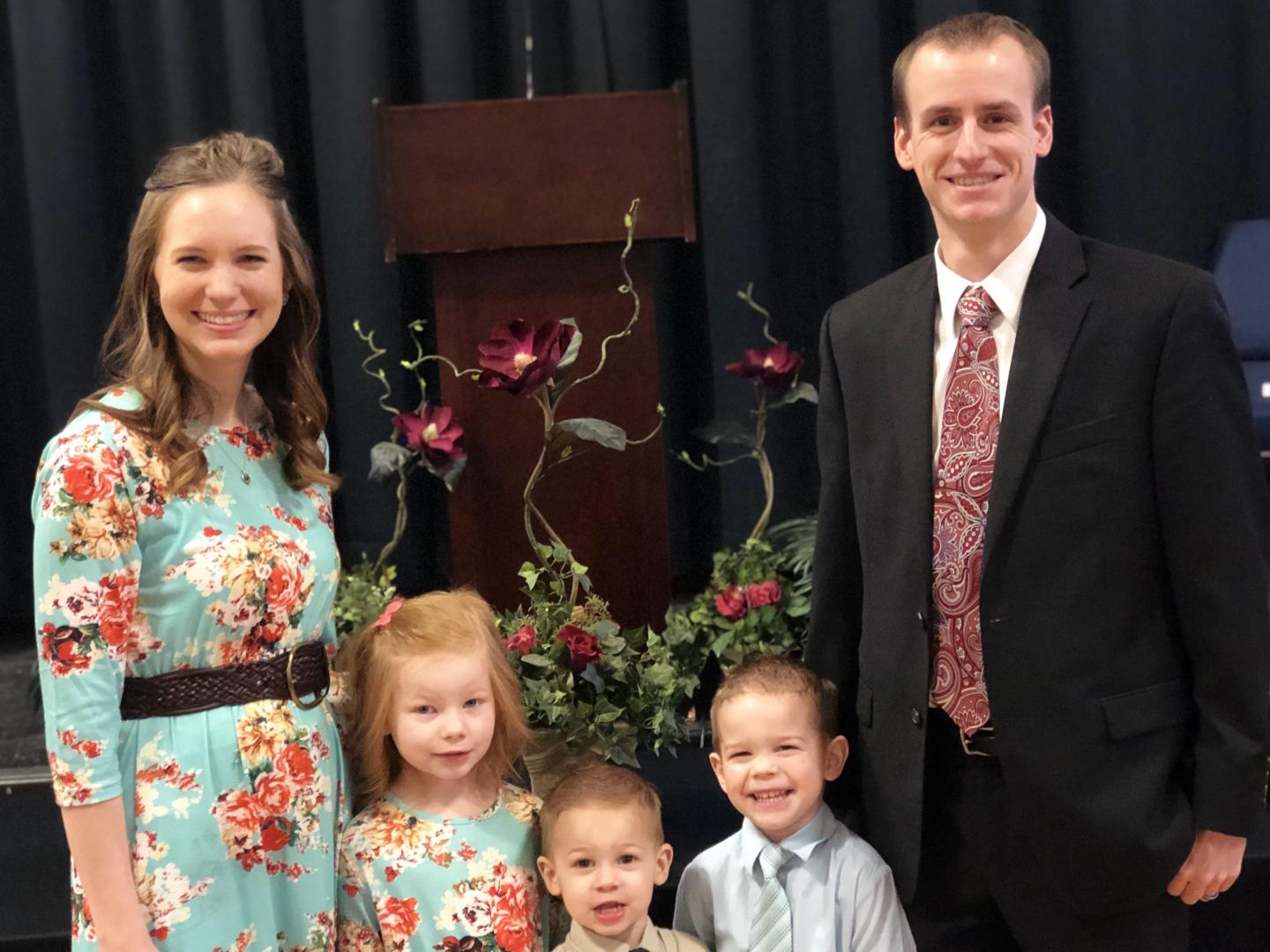 Our family on the church's 2nd anniversary in February